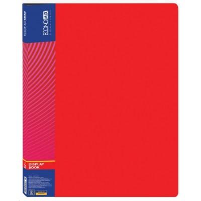 Папка А4 с 30 файлами, Economix, красная E30603-03