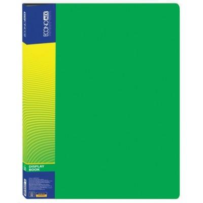 Папка А4 с 30 файлами, Economix, зеленая