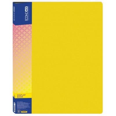 Папка пластиковая А4 на 30 файлов, Economix, желтая E30603-05