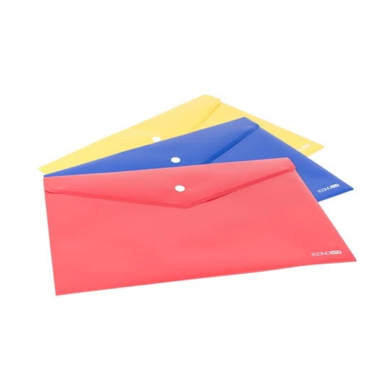 Папка-конверт А4 непрозрачная на кнопке со штрих-кодом E31305s-50