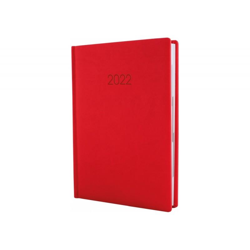 Ежедневник датированный 2022г., VIVELLA, красный, А6, E21885