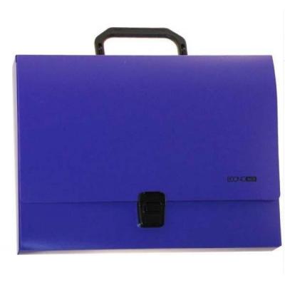 Портфель пластиковый А4 Есопотіх на застежке, 1 отделение, фиолетовый