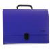 Портфель пластиковый А4 Есопотіх на застежке, 1 отделение, фиолетовый - Фото 2