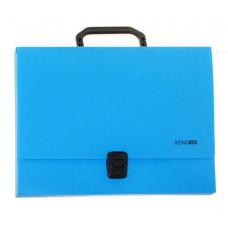 Портфель пластиковый А4 Есопотіх на застежке, 1 отделение, голубой
