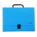 Портфель пластиковый А4 Есопотіх на застежке, 1 отделение, голубой - Фото 2