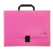 Портфель пластиковый А4 Есопотіх на застежке, 1 отделение, розовый