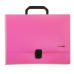 Портфель пластиковый А4 Есопотіх на застежке, 1 отделение, розовый - Фото 2