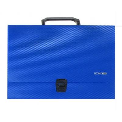 Портфель пластиковый А4 Есопотіх на застежке, 1 отделение, синий