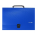 Портфель пластиковый А4 Есопотіх на застежке, 1 отделение, синий - Фото 2