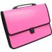 Портфель на застежке, фактура Вышиванка, розовый - Фото 2