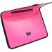 Портфель на застежке, фактура Вышиванка, розовый - Фото 4