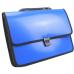 Портфель на застежке, фактура Вышиванка, синий - Фото 2