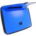 Портфель на застежке, фактура Вышиванка, синий - Фото 3