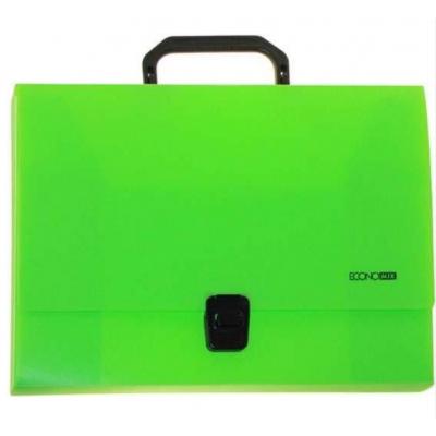 Портфель пластиковый А4 Есопотіх на застежке, 1 отделение, салатовый