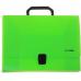 Портфель пластиковый А4 Есопотіх на застежке, 1 отделение, салатовый - Фото 2