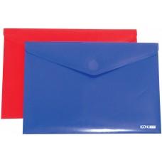 Папка конверт непрозрачная А4 на липучке Економикс, фактура апельсин, ассорти.
