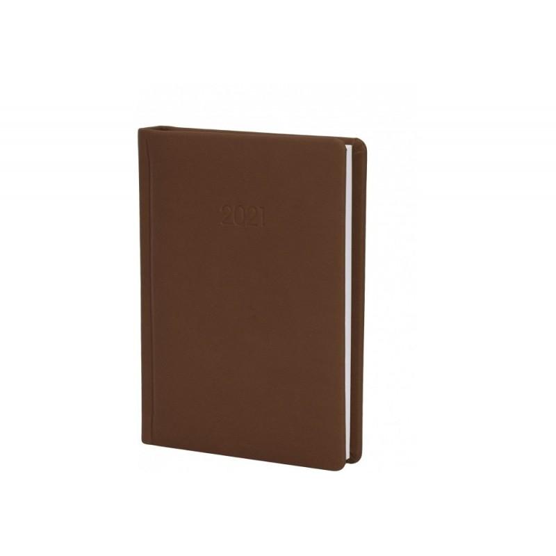 Ежедневник датированный 2022г., VIVELLA, коричневый, А6, E21889