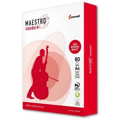 Бумага офисная Maestro Standart + 80г/м2 пачка (1шт)