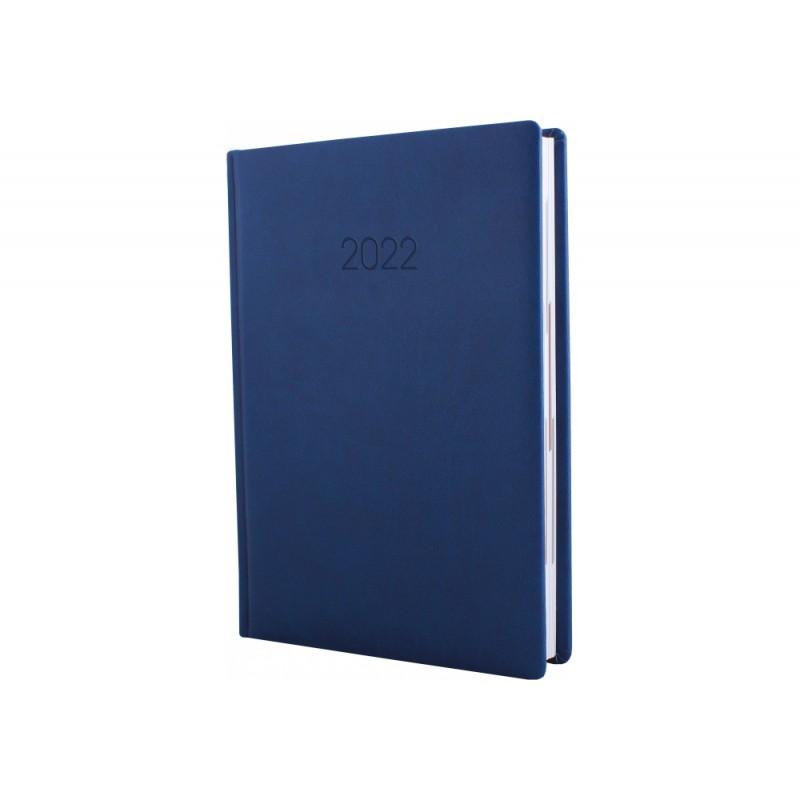Ежедневник датированный 2022г., VIVELLA, темно-синий, А6, E21895