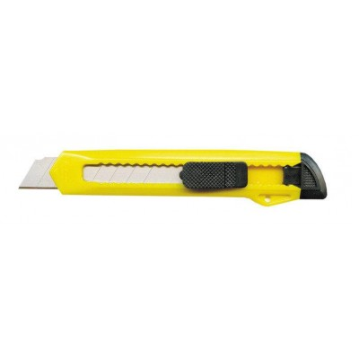 Нож канцелярский 18 мм желтый
