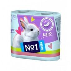 Туалетная бумага Karo, 4 рул. Бирюзовая A0147B