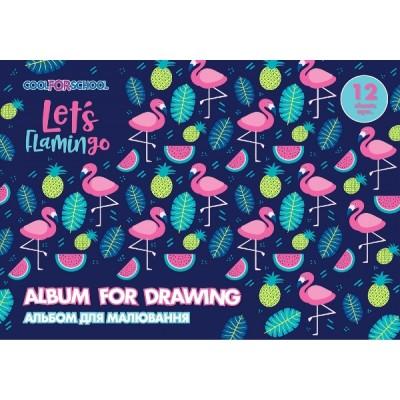 Альбом для рисования на скобе, 12 листов, «For Girls» CF60901-09