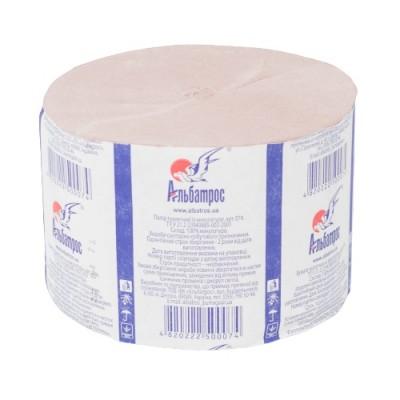 Туалетная бумага в рулонах «Джамбо» без гильзы, розовая, намотка - 100 м ALB074r