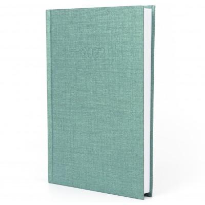 Ежедневник датированный 2022г., Текстиль, зеленый, А5, E21634-04
