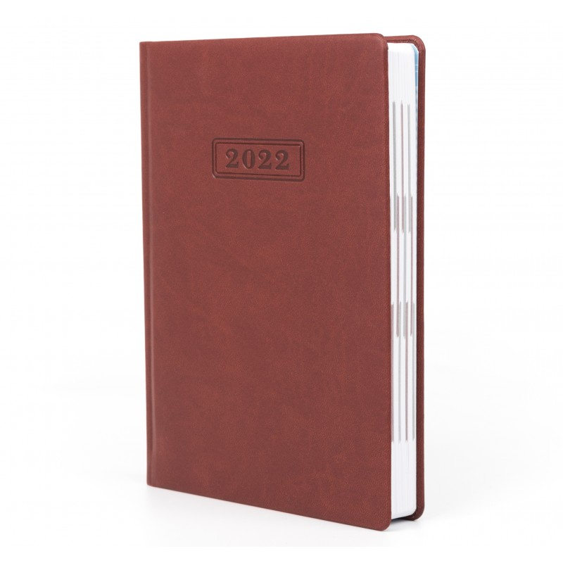 Дневник датированный 2022г., VIVELLA, коричневый, А5, O25230-07