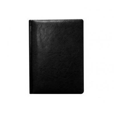 Ежедневник датированный А5 (143 * 202), 176 л., Линия, кремовая обложены., Искусственная кожа, Nebraska, черный
