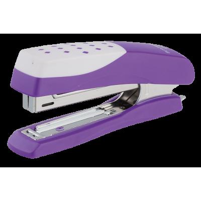 Степлер пластиковый «Шахматка» BUROMAX, 12 лист., (скобы № 10), фиолетовый