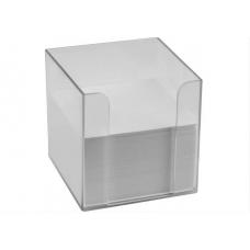 Підставка під папір для нотаток Economix 90х90х90, прозора
