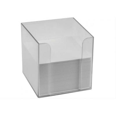 Подставка под бумагу для заметок Economix 90х90х90, прозрачная