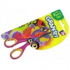 Ножницы детские 13,5 см GRAFFITI (розовые)