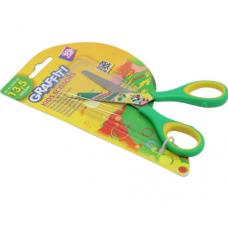 Ножницы детские 13,5 см GRAFFITI (зеленые)