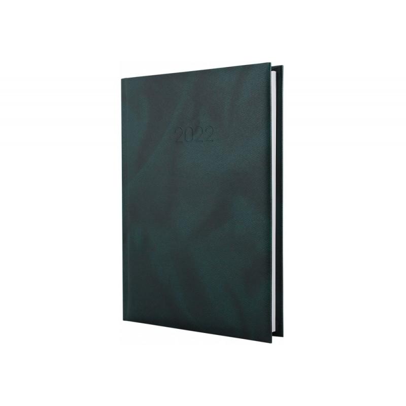 Ежедневник датированный 2022г., OFFICE, зеленый, А5, E21607-04