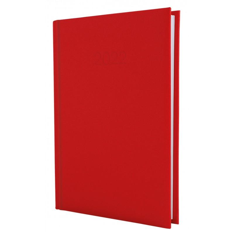 Ежедневник датированный 2022г., Текстиль, красный, А5, E21634-03