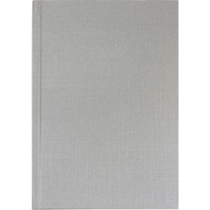 Ежедневник датированный 2022г., Текстиль, А5, серебро, E21634-16