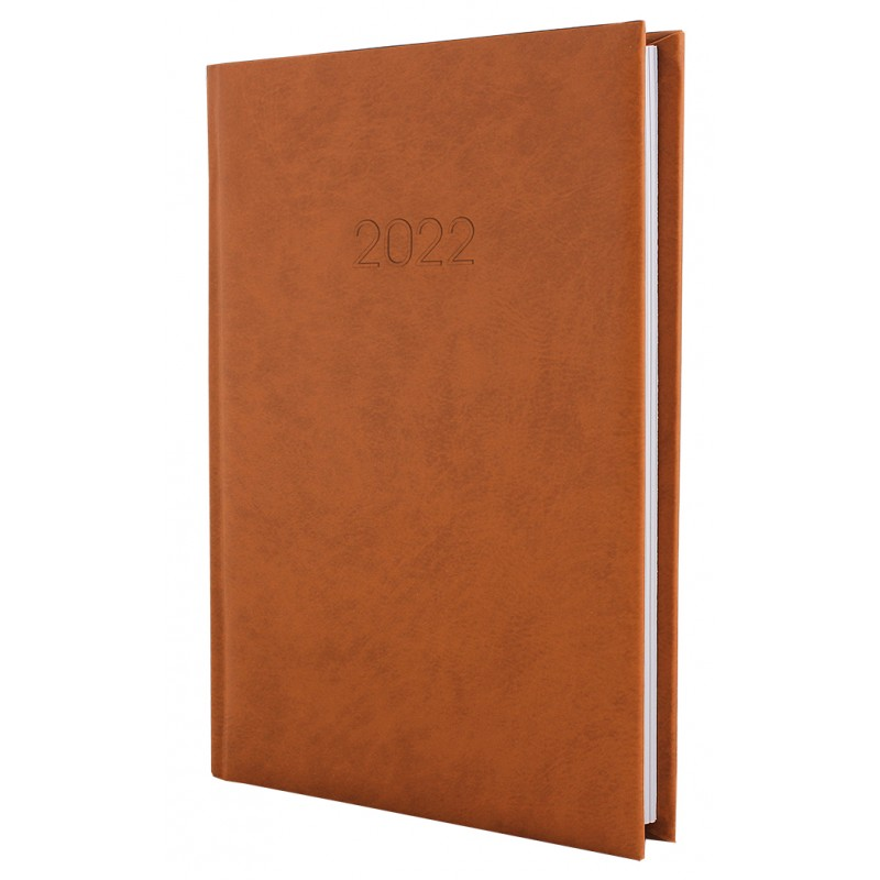 Ежедневник датированный 2022г., ALGORA, коричневый, А5, E21689-07