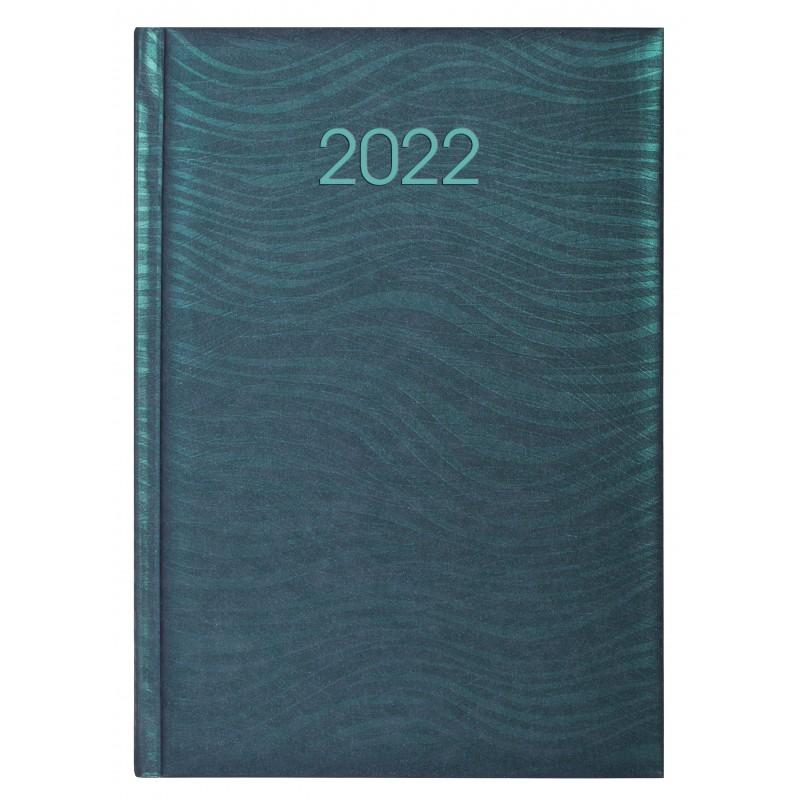 Ежедневник датированный 2022г., SEA, зеленый (изумруд), А5, E21814-04