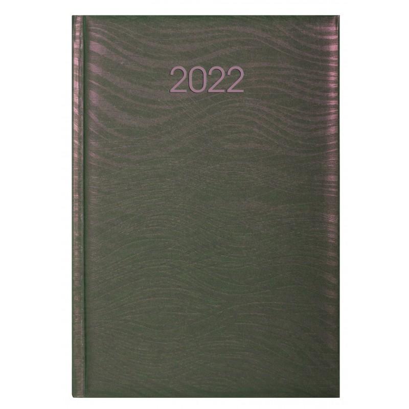 Ежедневник датированный 2022г., SEA, розово-зеленый хамелеон, А5, E21814-09