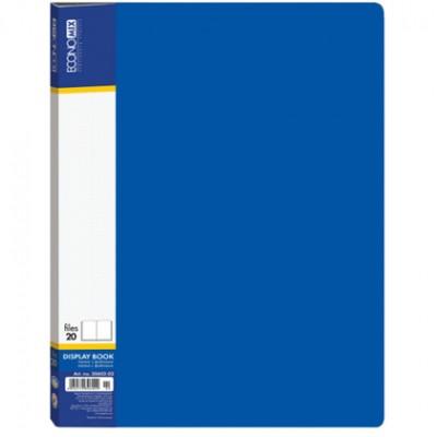 Папка А4 с 20 файлами Economix, синяя