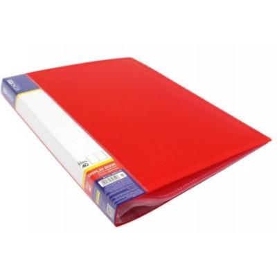 Папка А4 с 40 файлами Economix, красная