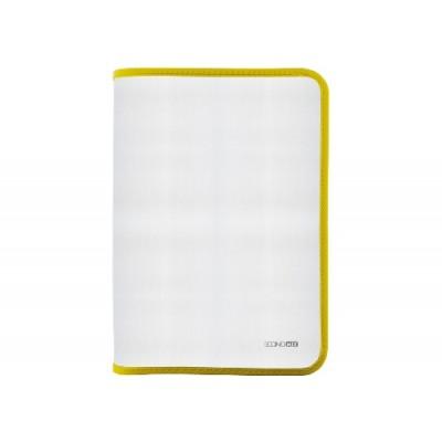 Папка-пенал пластиковая на молнии Economix А4, прозрачная, фактура: ткань, молния желтая
