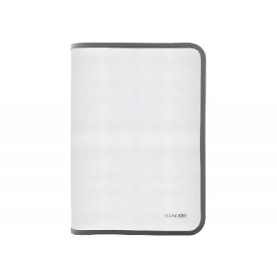 Папка-пенал пластиковая на молнии Economix А4, прозрачная, фактура: ткань, молния серая