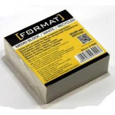 Бумага для заметок 90х90 мм Format, 900 л., Белый макулатурный