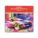 """Карандаши цветные """"Premium"""", 24 цвета, трехгранные, в металлической коробке (Машинка) - Фото 2"""
