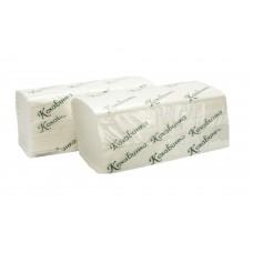 """Полотенца бумажные в листах """"Кохавинка"""" V-V 160 2-слойные белые"""