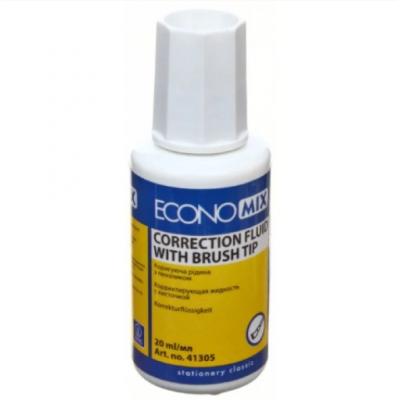 Корректирующая жидкость Economix с кисточкой, 20 мл.