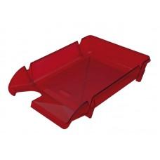 Лоток для бумаг горизонтальный, ярко-красный, пластик